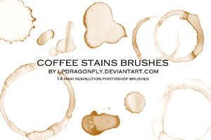 coffee stains brushes by ivadesign