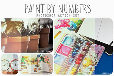 Paint by Numbers action pack