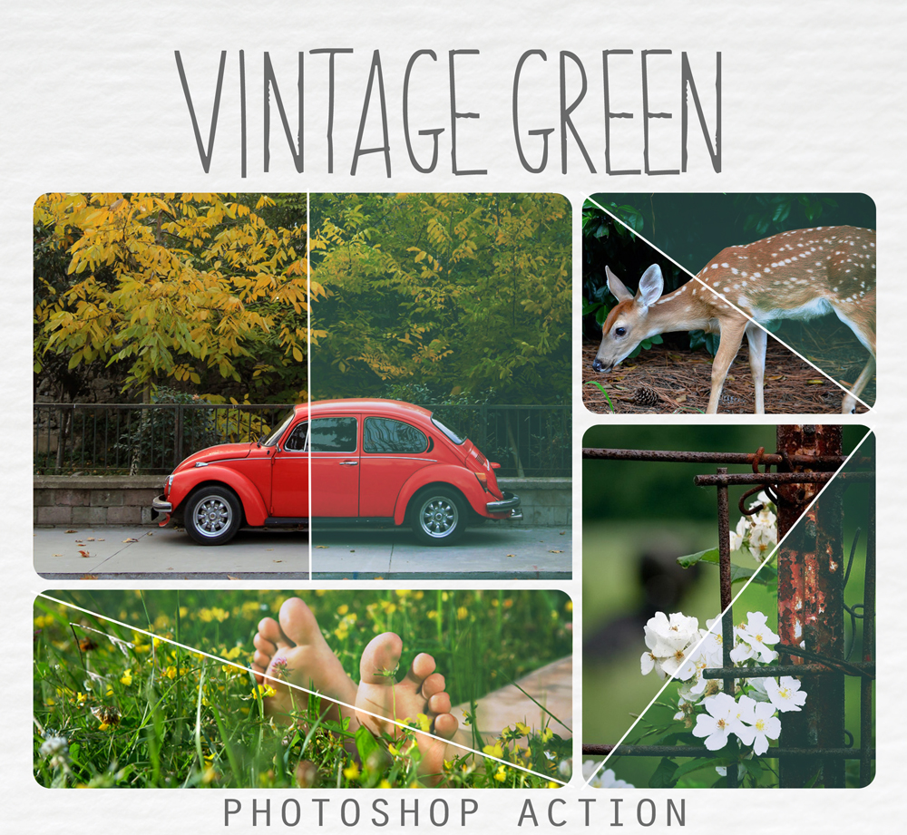 Vintage dark green action