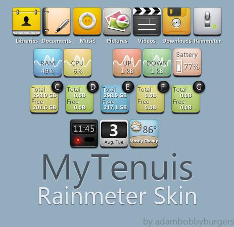 MyTenuis for Rainmeter by adambobbyburgers