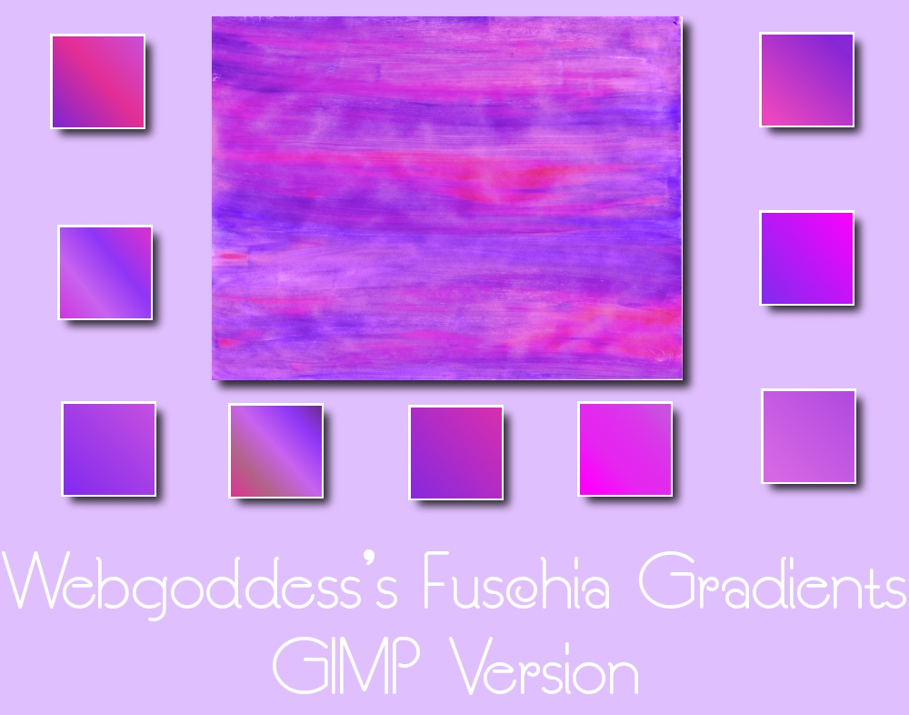 Fuschia Gradients For Gimp