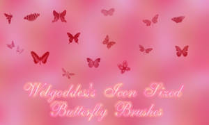 Icon Sized Butterfly Brushes by webgoddess