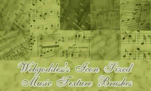 Icon Sized Music Brushes