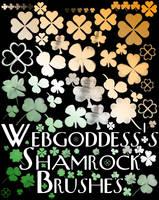 Shamrock Brushes by webgoddess