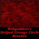 Striped Grunge Circle Brushes