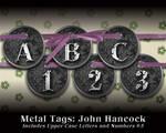 Metal Tags: John Hancock