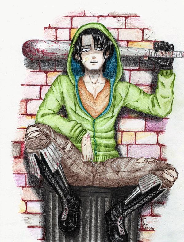 Thug!Levi x Thug!Reader by kuni-chan978 on DeviantArt