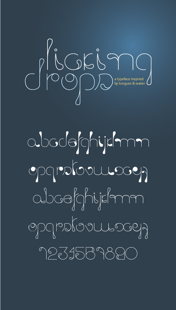 Licking Drops Font by ataldathais