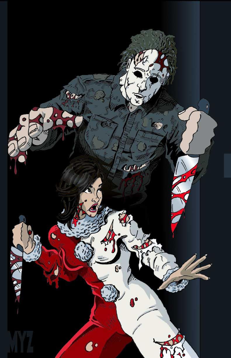 Jamie vs Michael Myers by Myzery-Creations on DeviantArt