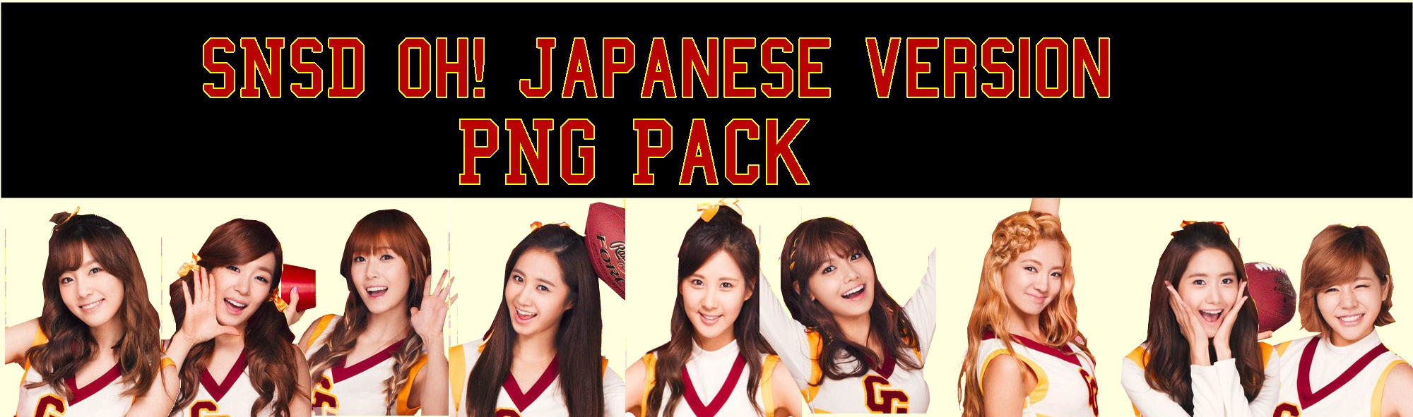 SNSD Oh! Japanese Version PNG Pack by Kpopified