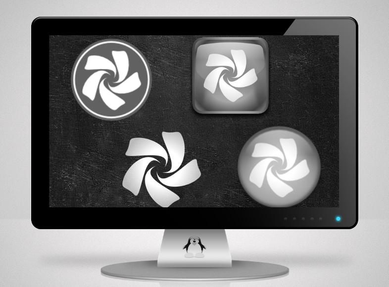 Chakra Start Icons monochrome by blu32