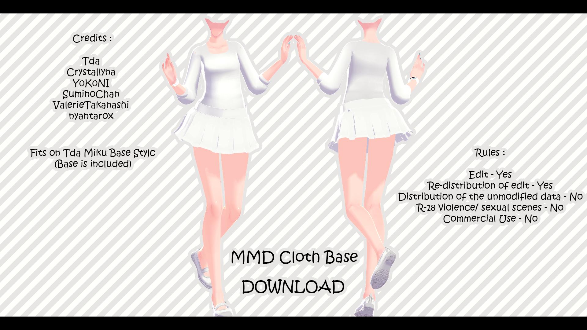 MMD Cloth Base + Download by XxXSickHeartKunXxX
