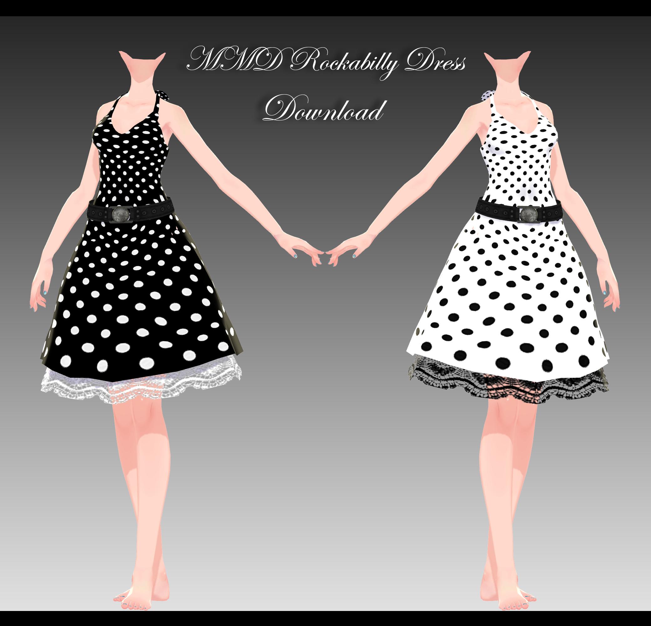 Mmd Rockabilly Dress By Xxxsickheartkunxxx On Deviantart