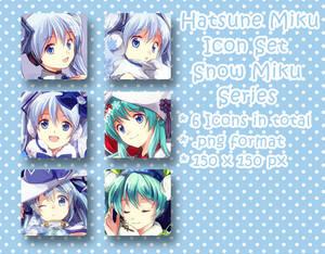 Hatsune Miku Icon Set - Snow Miku Series
