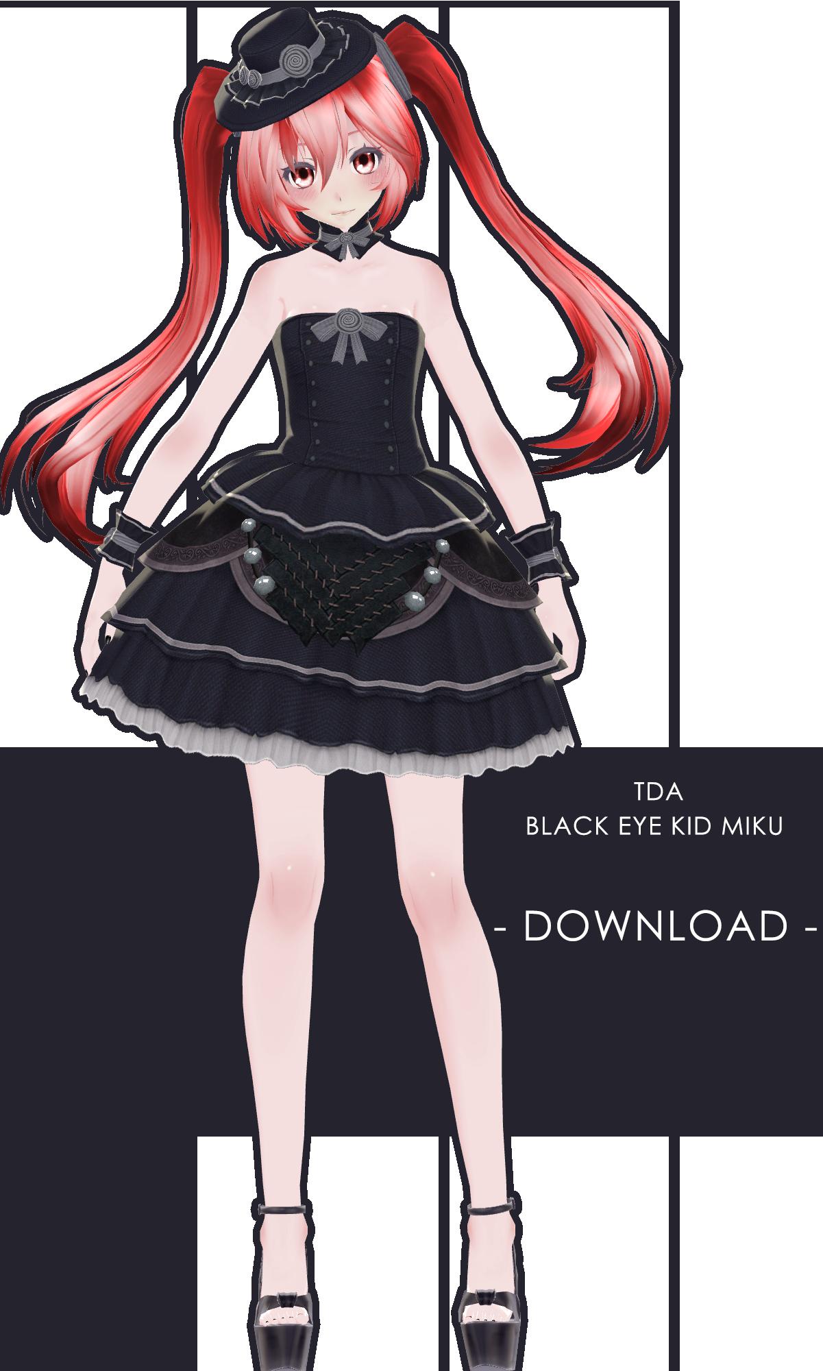 Tda Black Eye Kid Miku + Download by XxXSickHeartKunXxX