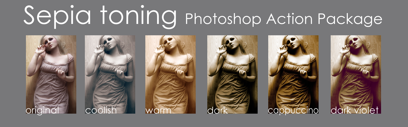 Sepia toning - Action package