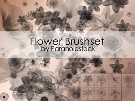 Flower Brushset by paranoidstock