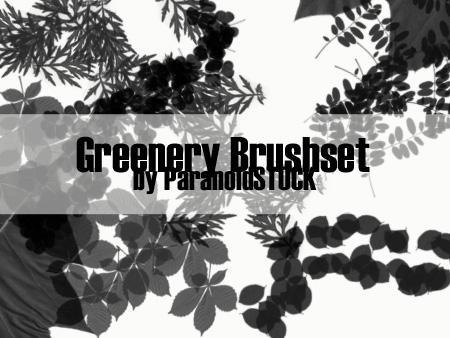 Greenery Brushset by paranoidstock