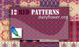 12 red patterns for photoshop by creativesplash