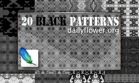 20 black patterns for ps by creativesplash