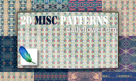 20 misc patterns for ps by creativesplash