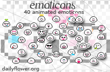 40 emoticons by creativesplash