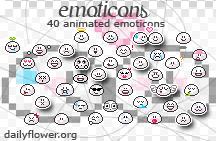 40 emoticons by creativesplash