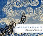 Handrawn swirls s