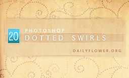 Dotted swirl brushes by creativesplash