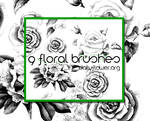 9 ps floral brushes