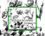 16 ps floral brushes