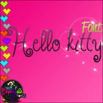 font hello kitty