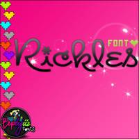 font 'Rickles by Burbujiiz