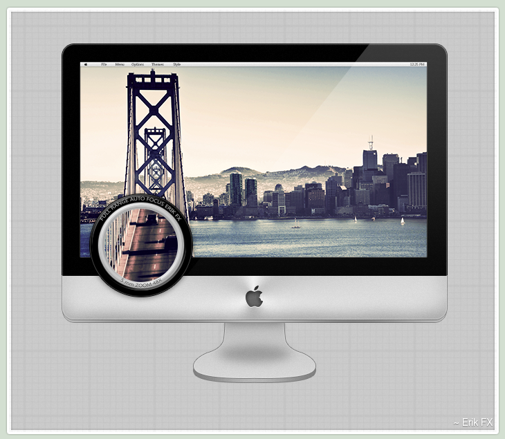 iMac Template [iSteve] by ErikFX