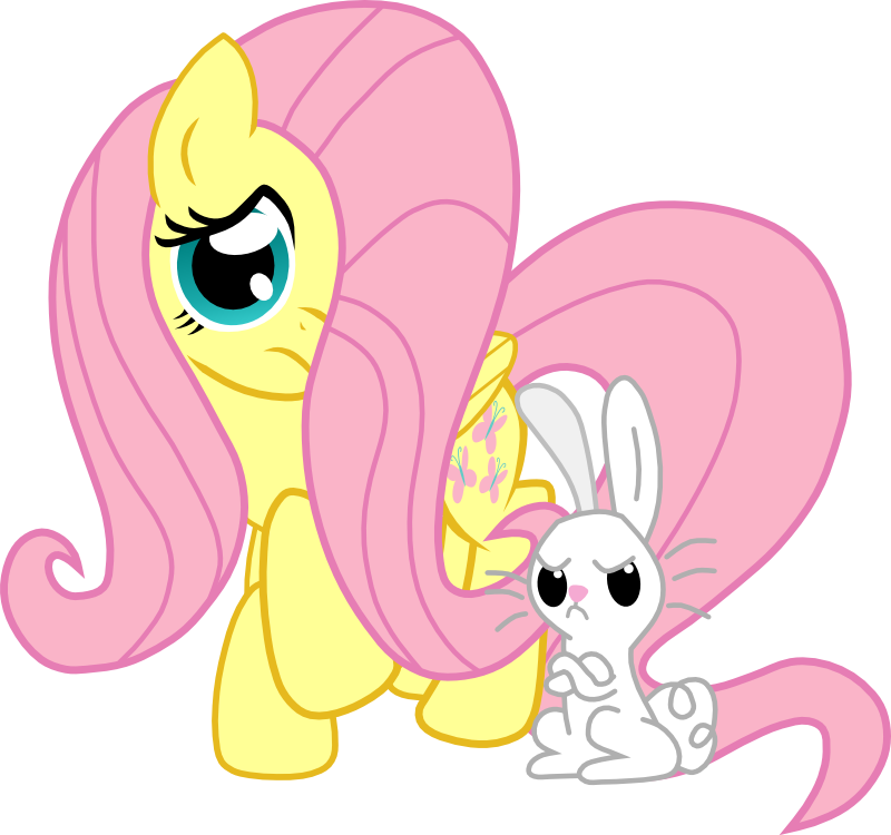 Fluttershy And Angel Vector by TheLordofPies