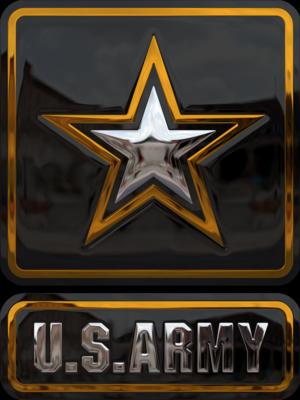 Gold and Black Enamel US Army Logo by WyckedDreamz on ...