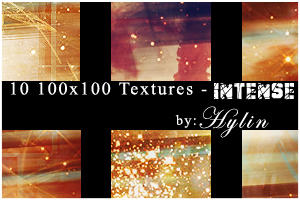 10 100x100 Textures - Intense by hylin