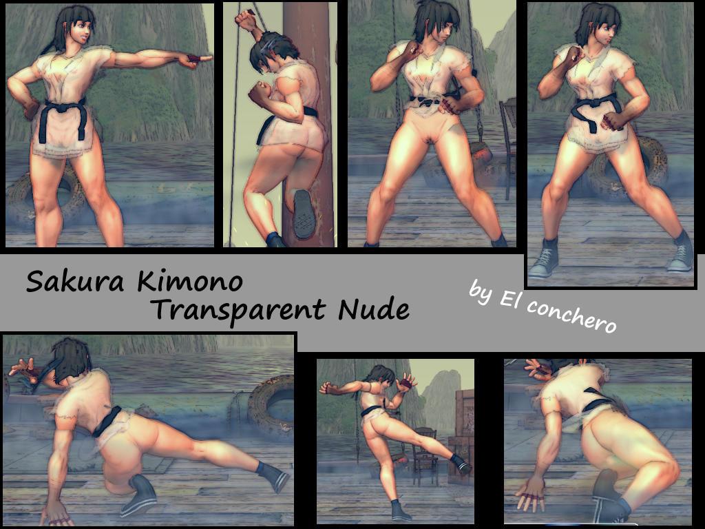 Sakura Kimono Transparent Nude by elconchero Akane Sakura Nude