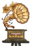 Steampunk Grammophon Mediaplayer - Winamp