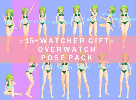 :: mmd pose pack :: 15+ watcher gift - overwatch