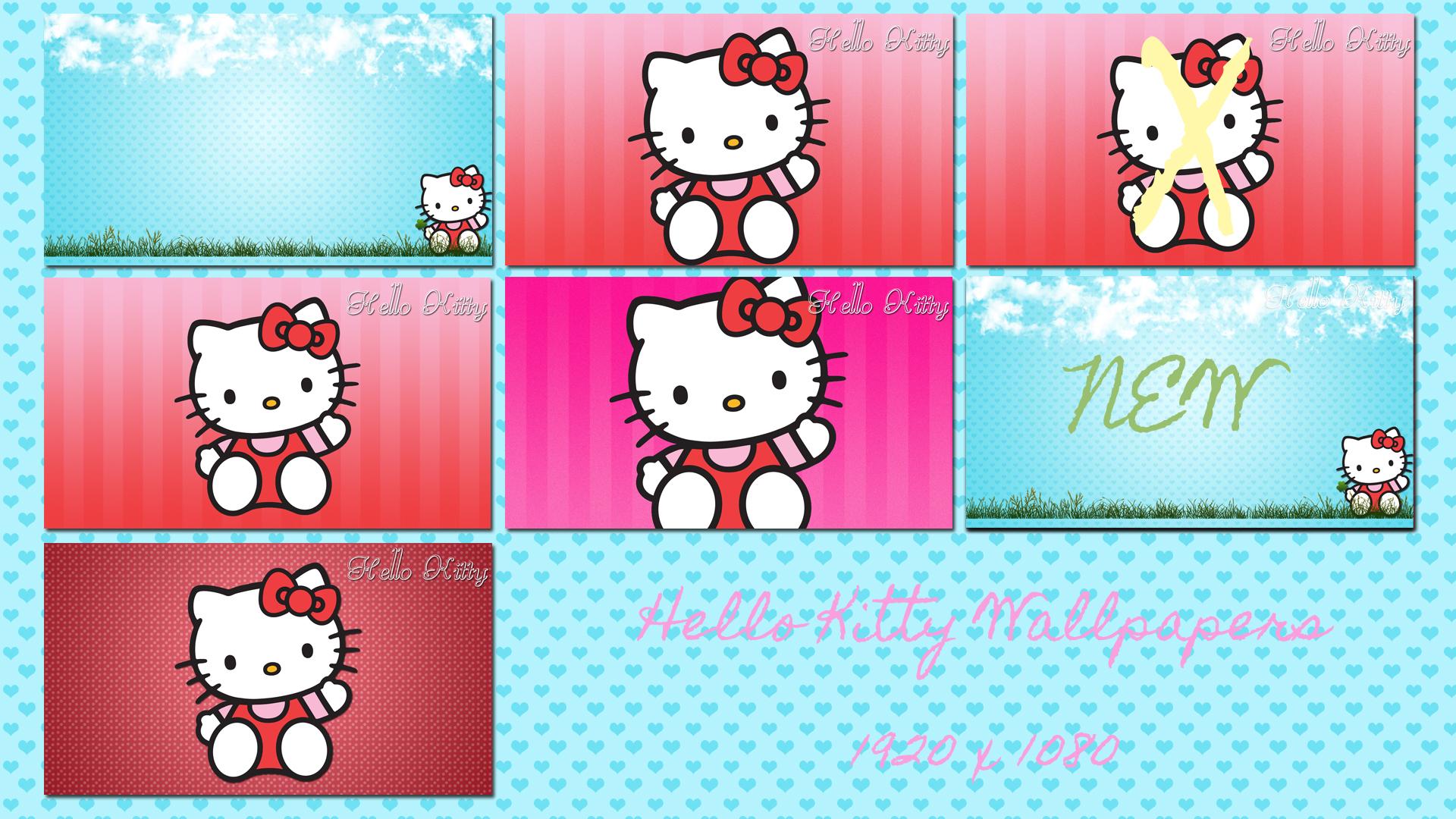 Cute Hello Kitty Desktop 6 Pack 1920 X 1080 By Sleepy