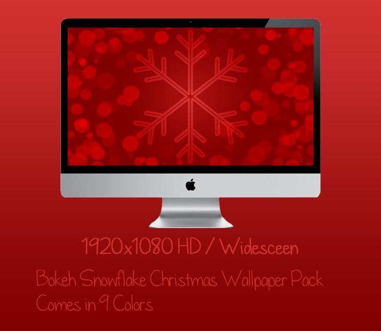 Bokeh Christmas Snowflake Wallpaper Pack 1920x1080
