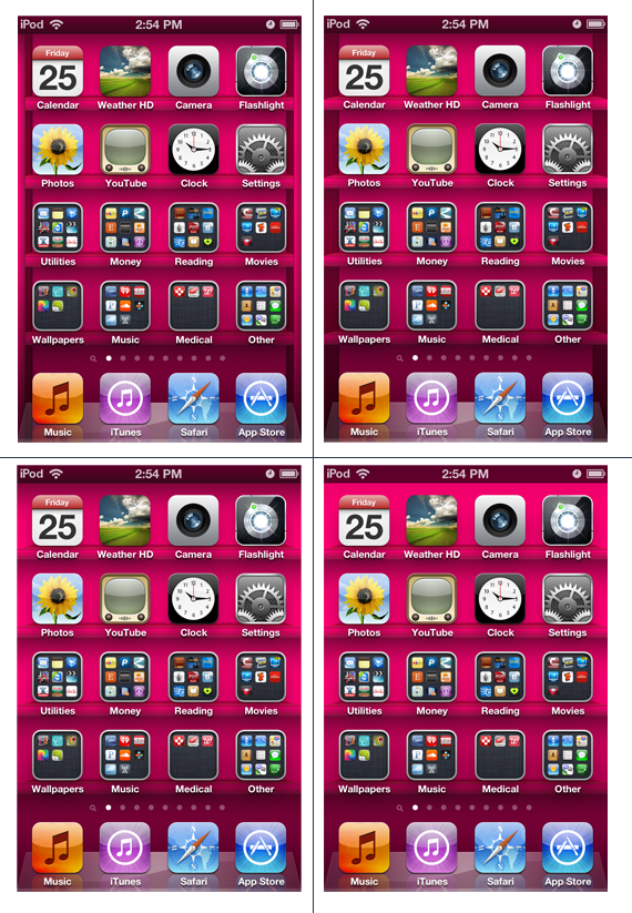 IPod Touch IPhone 4G Hot Pink App Shelf Wallpapers By Sleepy Stardust