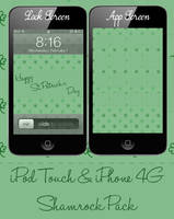 iPod Touch and iPhone 4G Shamrock Clover Pack by Sleepy-Stardust