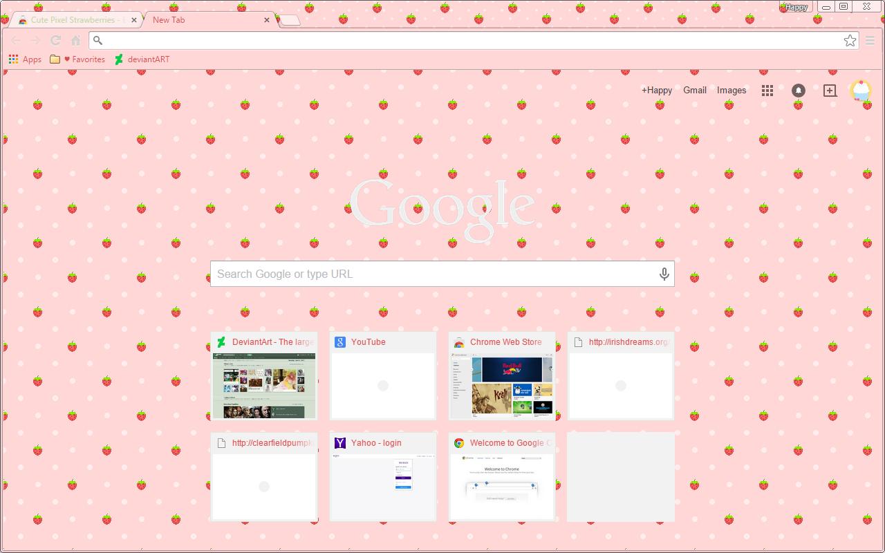 Google chrome themes top 10 -  Strawberry Polka Dot Google Chrome Theme By Sleepy Stardust