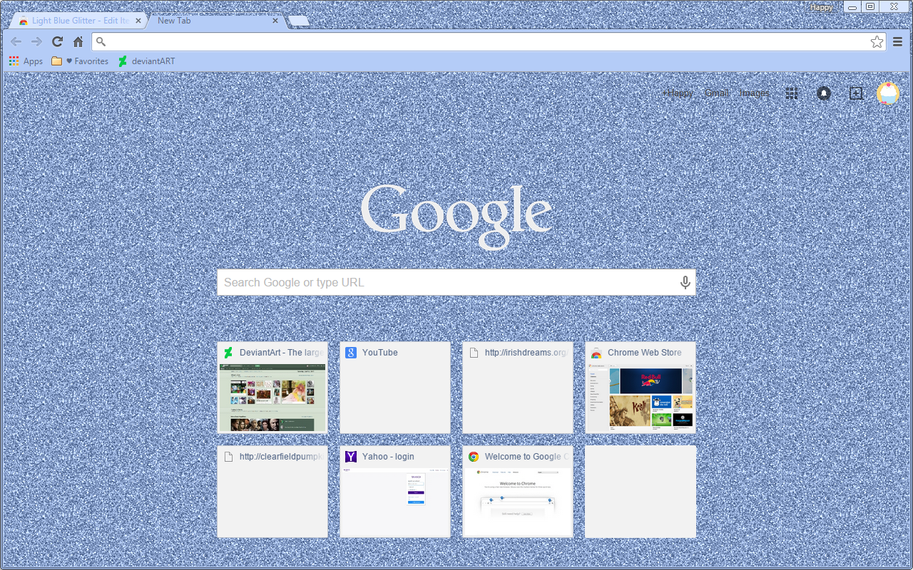 Google themes blue -  Light Blue Glitter Google Chrome Theme By Sleepy Stardust