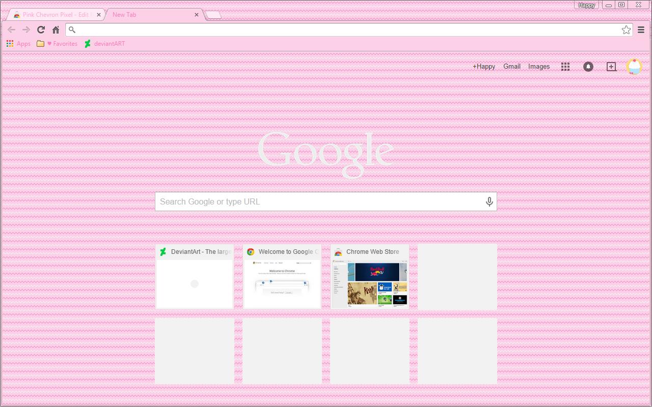 Pink Chevron Pixel - Google Chrome Theme