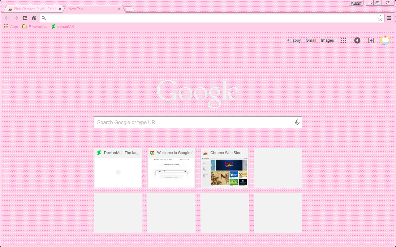 Pink themes for gmail -  Pink Chevron Pixel Google Chrome Theme By Sleepy Stardust