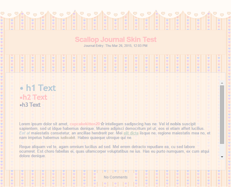 Cute Heart Scallop Journal Skin UPDATED by Sleepy-Stardust