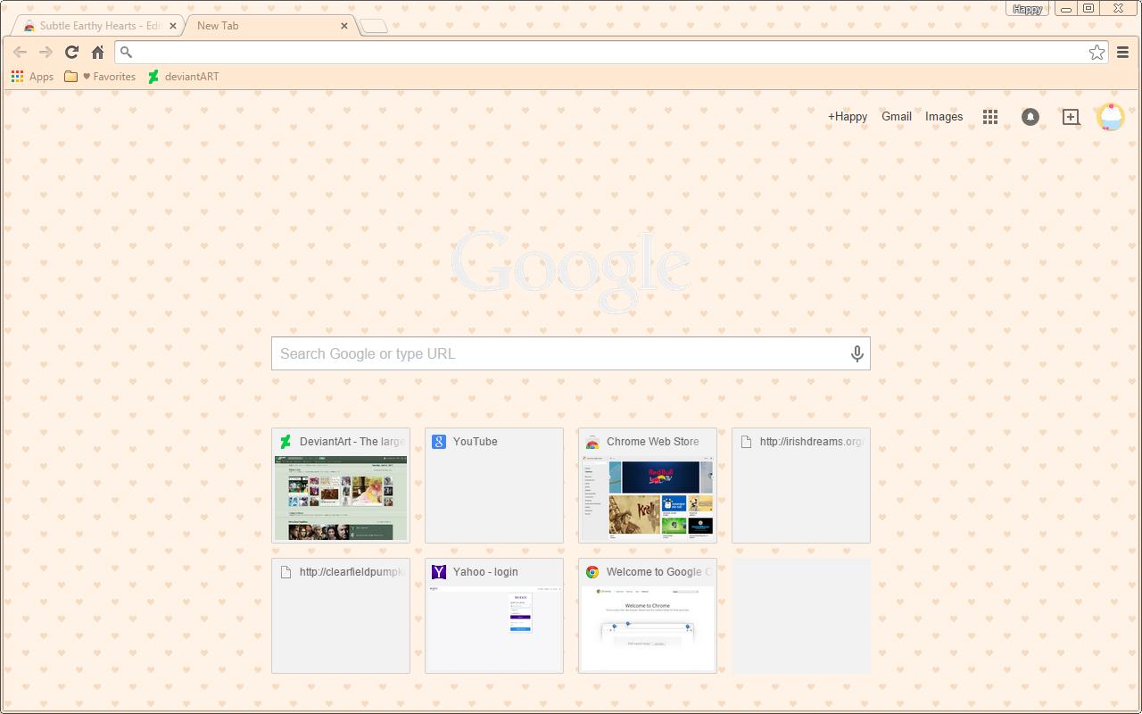 Coffee Hearts - Google Chrome Theme by Sleepy-Stardust on